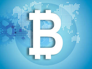 bitcoin symbol illustration