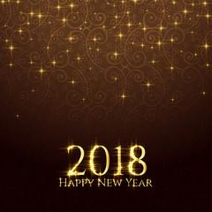 2018 shiny glitter sparkles new year background