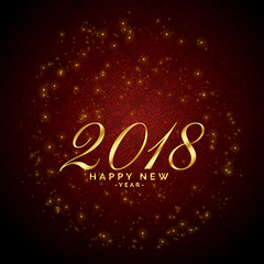 shiny sparkles red background for 2018 happy new year celebration