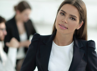 closeup.confident young business woman
