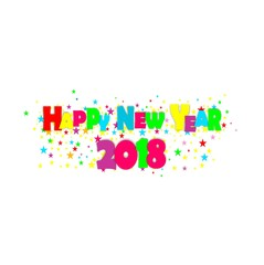Happy new year 2018 card