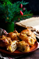Mini chicken pies..style rustic