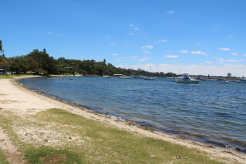 Peppermint Grove and Swan River in Perth, Western Australia