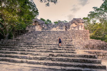 Visit of the ancient maya city of Calakmul - South Yucatan - Mexico