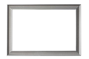Metal decorative picture frame on white background