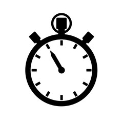 Stopwatch, timer or chronograph icon. Precise time measurement device. Vector Illustration