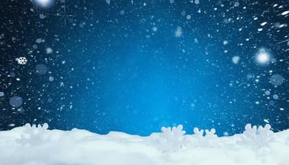 Winterlicher Weihnachtsmotiv