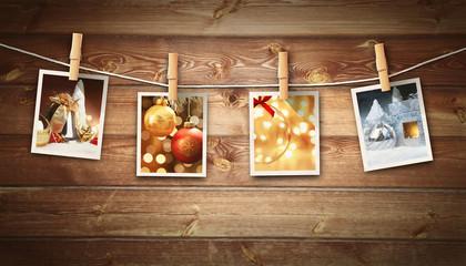 Polaroid Fotos - Weihnachtsmotiv
