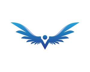 Falcon Wing Logo Template