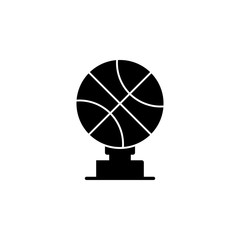 Basketball Trophy icon. The sign of win Icon. Premium quality graphic design. Signs, symbols collection, simple icon for websites, web design, mobile app