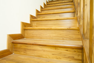 Canvas Prints Stairs Modern style wooden stairs, Interior design.