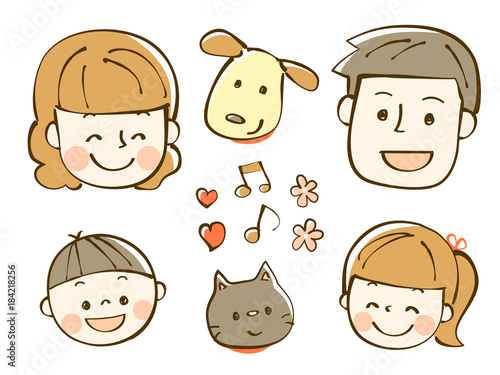 家族 イラスト 笑顔fotoliacom の ストック画像とロイヤリティフリーの