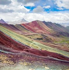 Hiking trail on Rainbow mountain in Peru