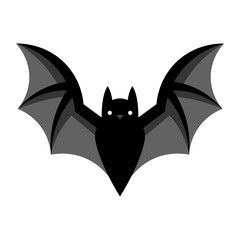 Cartoon Bat Emoji Isolated On White Background