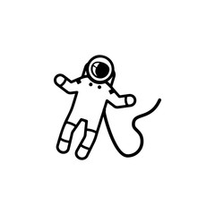 Astronaut on space Icon. Elements of space Icon. Premium quality graphic design. Signs, symbols collection, simple icon for websites, web design, mobile app