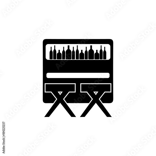 Bar Counter With Stools Icon Night Club Icon Element Of Place Of