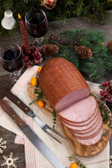 Roasted Glazed Christmas Ham