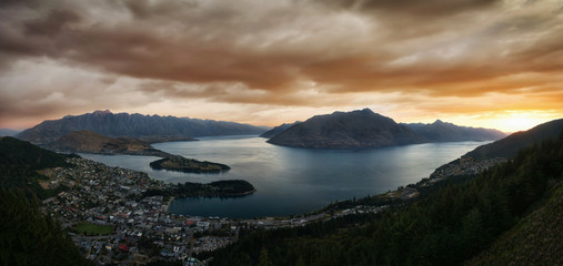 Foto auf AluDibond Neuseeland Queenstown New Zealand