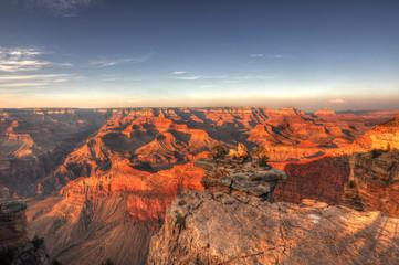 Acrylic Prints Coral Sunset @ Grand Canyon