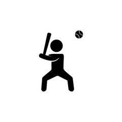 baseball player icon. Silhouette of an athlete icon. Sportsman element icon. Premium quality graphic design. Signs, outline symbols collection icon for websites, web design
