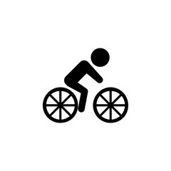 cyclist icon. Silhouette of an athlete icon. Sportsman element icon. Premium quality graphic design. Signs, outline symbols collection icon for websites, web design