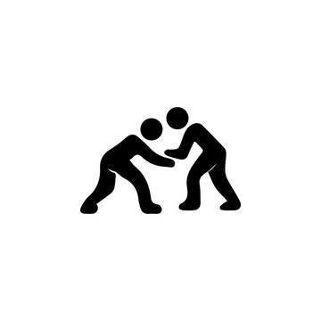 wrestling icon. Silhouette of an athlete icon. Sportsman element icon. Premium quality graphic design. Signs, outline symbols collection icon for websites, web design