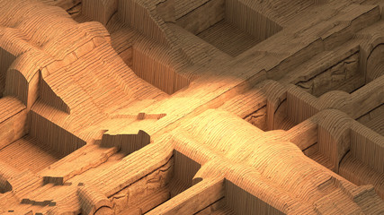 3d rendering picture of ancient architecture.