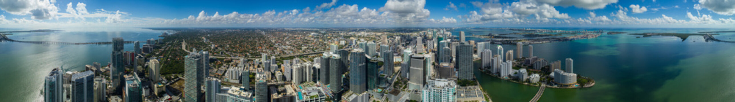 Amazing aerial Brickell Miami Florida large scale