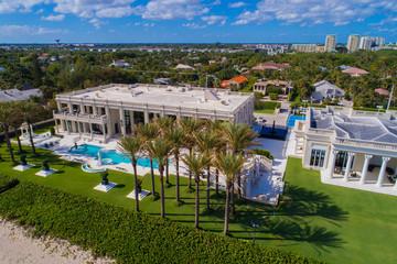 Multi million dollar mansions on the beach