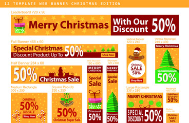 Banner set for Chinese new year sale with hanging lanterns on the branch. Vector design