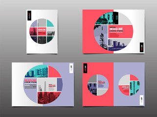 annual report ,template layout design,  cover book. vector