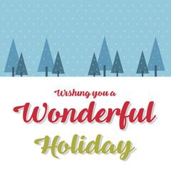 Merry Christmas Cute Card Design