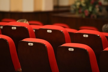 red seats in a theatre