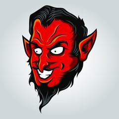 Demon / Devil Head Illustration Vector