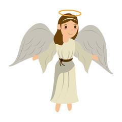 Beautiful angel cartoon icon vector illustration graphic design