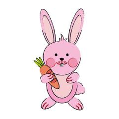 Cute bunny cartoon icon vector illustration graphic design