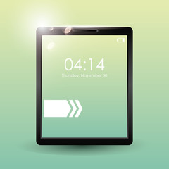 Tablet mobile technology icon vector illustration graphic