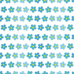 Forget-me-not flowers seamless pattern
