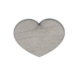 Wooden heart isolated on white. The heart is the symbol of love. Valentine's Day