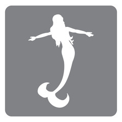 mermaid icon on a gray background