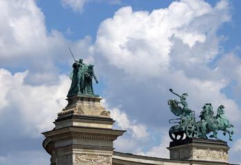 Heroes' square Budapest Hungary landmark