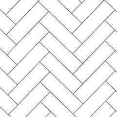 Obraz Simple outline parquet pattern. Zigzag geometric background. Vector illustration - fototapety do salonu