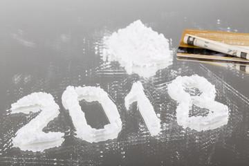Conceptual photo of the powder like a drug