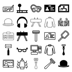 Set of 25 personal filled and outline icons