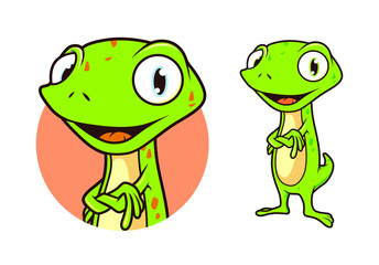 Gecko Cartoon Mascot Vector