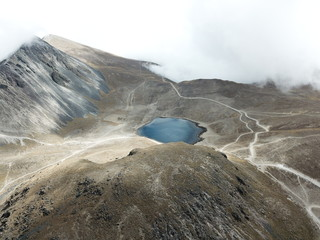 Nevado de Toluca is a large stratovolcano in central Mexico with 4680m elevation located about 80 kilometers west of Mexico City near the city of Toluca