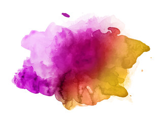 Beautiful colorful watercolor stain vector