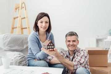 Couple building their house