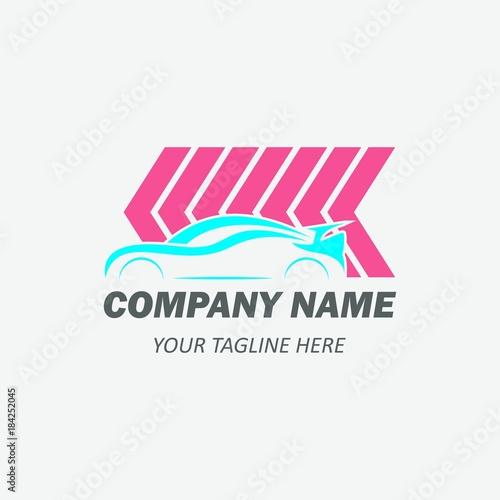Car Dealer Logo Template Emblem With Concept Sport Silhouette
