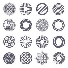 Set of vector logo design. Circle logo